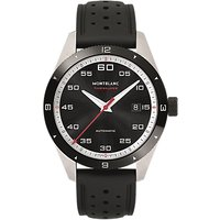 Montblanc 116059 Mens Timewalker Automatic Date Rubber Strap Watch, Black