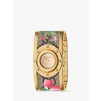 Gucci YA112443 Womens Twirl Fabric Strap Watch, Multi/Gold
