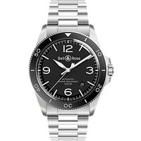 Bell and Ross BRV292-BL-ST/SST Mens Vintage Automatic Date Bracelet Strap Watch, Silver/Black