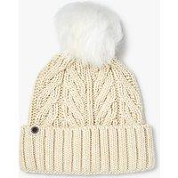 UGG Textured Cuff Pom Pom Beanie Hat