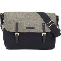 Storksak Ashley Felt Messenger Changing Bag, Black/Grey