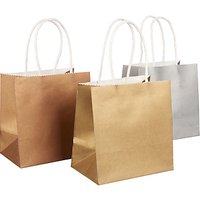 John Lewis Metallic Mini Gift Bags, Set of 3