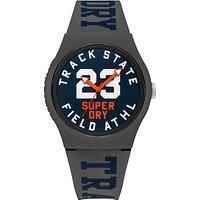 Superdry Urban Track & Field Silicone Strap Watch