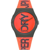 Superdry Urban Glitter Silicone Strap Womens Watch