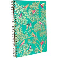 Sara Miller A4 Birds Notebook, Turquoise