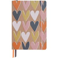 Caroline Gardner A5 Hearts Notebook, Multi