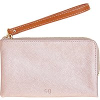 Caroline Gardner Metallic Wristlet Purse, Rose Gold