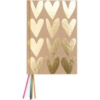 Caroline Gardner Hearts Multi Ribbon Notebook
