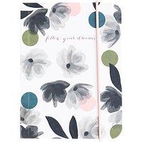 Caroline Gardner Rose Tinted Small Chunky Notebook