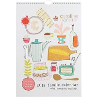 Caroline Gardner Around The Table 2018 Family Calendar