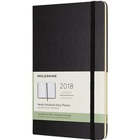 Moleskine 12-Month Large Weekly Hard Cover Diary/Notebook 2018