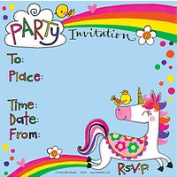 Rachel Ellen Unicorn Invitations, Pack Of 8