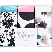 Caroline Gardner Rose Tinted Erasers, Pack of 3