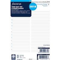 Filofax Day Per Page 2018 Diary Inserts, 5 Language, A5
