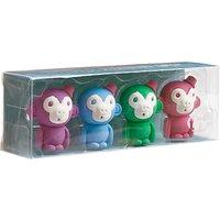 Tinc Monkey Scented Erasers, Set of 4