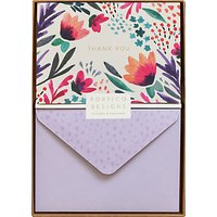 Portico Floral Thank You Notecards, Box Of 10