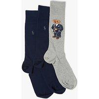 Polo Ralph Lauren Bear Socks Gift Box, Pack of 3, Multi