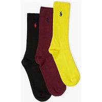 Polo Ralph Lauren Ribbed Socks Gift Box, Pack of 3, Multi