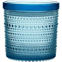 Iittala Kastehelmi Glass Jar, Light Blue, 11.6 x 11.4cm