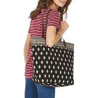 Fat Face Tia Woven Shopper Bag, Black