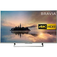Sony Bravia KD55XE7073 LED HDR 4K Ultra HD Smart TV, 55 with Freeview Play & Cable Management, Silver
