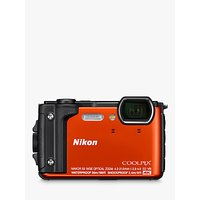 Nikon COOLPIX W300 GPS Waterproof, Freezeproof, Shockproof, Dustproof Digital Camera, 16MP, 4K UHD, 5x Optical Zoom, Bluetooth, 3 LCD Screen, Orange
