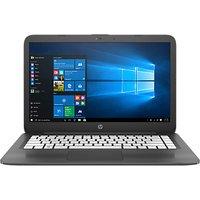 HP Stream 14-ax005na Laptop, Intel Celeron, 4GB RAM, 32GB eMMC, 14, Dark Grey