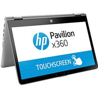 HP Pavilion X360 14-ba031na Laptop, Intel Core i5, 8GB RAM, 128GB M.2 SSD, 14 Full HD Touch Screen, Mineral Silver