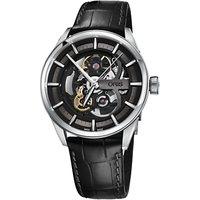 Oris 01 734 7714 4054-07 5 19 81FC Mens Artix Automatic Skeleton Leather Strap Watch, Black