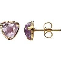 John Lewis Gemstones Amethyst Stud Earrings, Purple