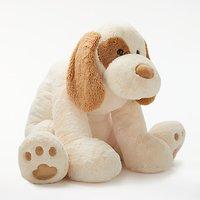 John Lewis 47 Dog Plush Soft Toy, Cream
