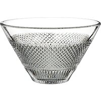 Waterford Diamond Line Crystal Bowl