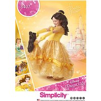 Simplicity Childrens Disney Princess Dress Sewing Pattern, 8407