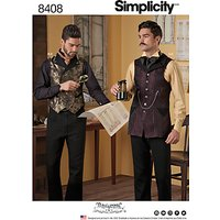Simplicity Mens Arkivestry Costume Sewing Pattern, 8408
