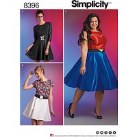 Simplicity Womens Superhero Skater Dress Sewing Pattern, 8396