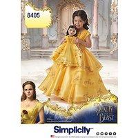 Simplicity Childrens Disney Princess Costume Dress, 8405