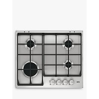 AEG HG654351SM Integrated Gas Hob, Stainless Steel