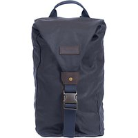 Barbour Wax Cotton Zip Front Backpack, Navy