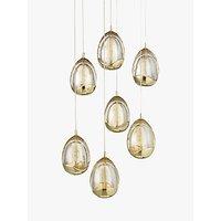 John Lewis Droplet 7 Light LED Ceiling Light, Gold