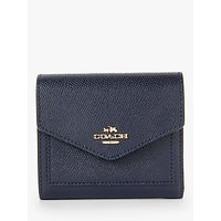 Coach Crossgrain Leather Small Purse, Navy