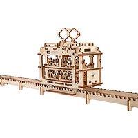 Ugears Mechanical Model Tram Wood Puzzle