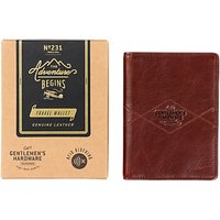 Gentlemens Hardware Leather Travel Wallet