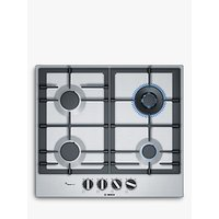 Bosch PCH6A5B90 Gas Hob, Stainless Steel
