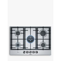 Bosch PCQ7A5B90 FlameSelect Gas Hob, Stainless Steel