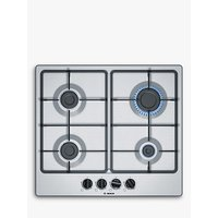 Bosch PGP6B5B60 Gas Hob, Stainless Steel