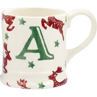 Emma Bridgewater Reindeer Alphabet Christmas Tree Decoration Tiny Mug