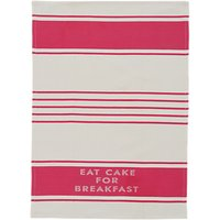 kate spade new york Diner Stripe Tea Towel, White/Red