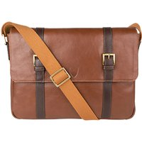 Hidesign Gable Despatch Leather Bag, Tan/Brown