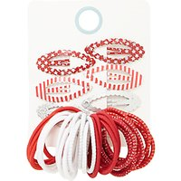 John Lewis Childrens Hair Bobble And Clips, Pack of 26