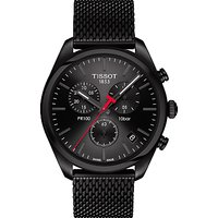 Tissot T1014173305100 Mens PR100 Chronograph Date Bracelet Strap Watch, Black